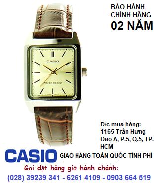 Casio MTP-V007L-9EUDF; Đồng hồ nam Casio MTP-V007L-9EUDF dây da nâu chính hãng| Bảo hành 2 năm