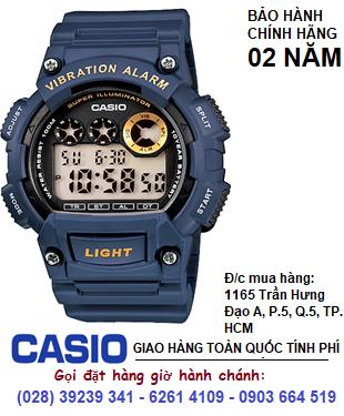 Casio W-735H-2AVDF; Đồng hồ điện tử Casio W-735H-2AVDF chính hãng| Bảo hành 2 năm