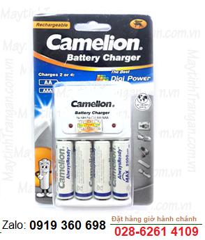 Bộ sạc pin AA Camelion BC-1010 kèm sẳn 4 pin sạc Camelion ALwaysReady AA2500mAh 1.2v