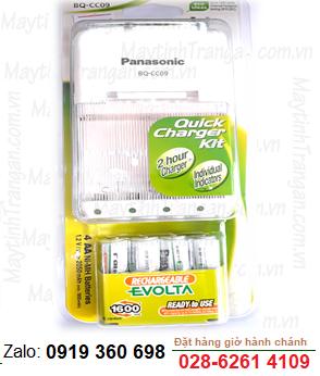 Panasonic Evolta BQ-CC09 ; Bộ sạc pin AA Panasonic Evolta BQ-CC09 kèm sẳn 4 pin sạc Panasonic Evolta AA2050mAh 1.2v chính hãng