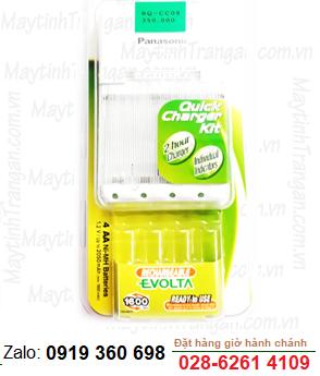 Bộ sạc pin AA-AAA Panasonic Evolta BQ-CC09, sạc nhanh 02 giờ và sạc được 2-4 pin AA, AAA
