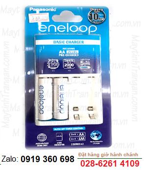 Bộ sạc pin AA Eneloop K-KJ18MCC20M, K-KJ51MCC20M, BQ-CC51E kèm 2 pin Eneloop AA1900mAh-1.2v