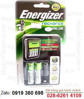 Bộ sạc pin AA Energizer CHVCM4, 4 rảnh - kèm sẳn 2 pin sạc Energizer AA1300mAh