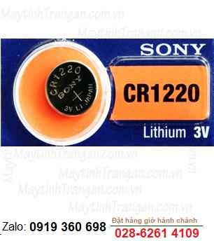 Pin 3V Lithium Sony CR1220 chính hãng Sony Nhật -Made in Indonesia or Japan