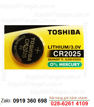 Toshiba CR2025; Pin 3V Lithium Toshiba CR2025 chính hãng