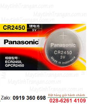 Pin 3v Lithium Panasonic CR2450 chính hãng Panasonic Made in Indonesia