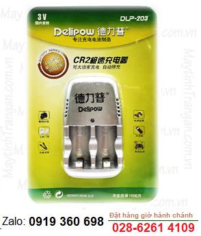 Delipow DLP-203; Máy sạc pin Lithium Li-ion CR2 Delipow DLP-203, sạc được 1 đến 2 pin Lithium Li-ion CR2