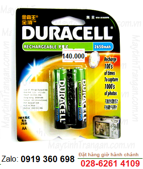 Duracell DC1500; Pin sạc AA2650mAh 1.2v Duracell DC1500 Made in Japan