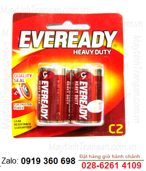 Eveready 1035 BP2; Pin trung C 1.5v Eveready 1035 BP2 Made in Indonesia