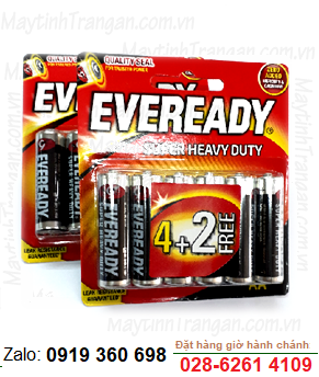 Eveready 1215 BP6; Pin AA 1.5v Eveready 1215 BP6 Heavy Duty (Vỉ 6viên)