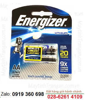 Energizer L91-BP2; Pin lithium AA 1.5v Energizer L91-BP2 Made in Singapore