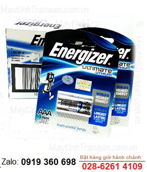 Energizer L92 BP2; Pin lithium AA 1.5v Energizer L92 BP2 Made in Singapore