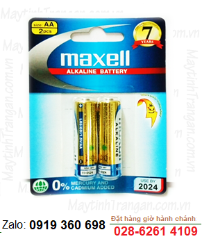 Maxell LR6(GD) 2B; Pin AA Maxell LR6(GD)2B Alkaline 1.5V Made in Indonesia