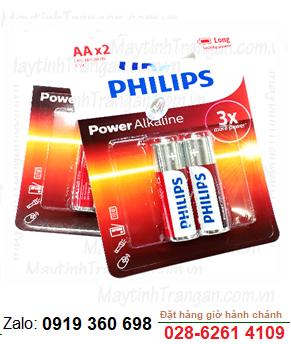 Philips LR6-AM3; Pin AA 1.5v Alkaline Philips LR6-AM3 (Vỉ 2viên)
