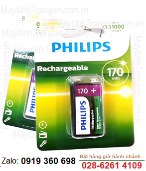 Philips 9VB1A17/97; Pin sạc 9v 170mAh Philips 9VB1A17/97