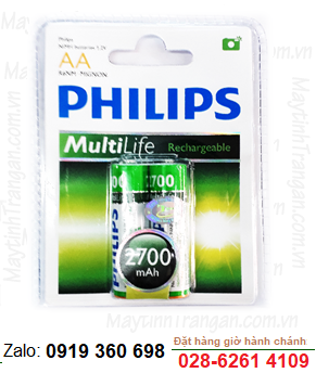 Philips R6B2A270/97; Pin sạc AA 2700mAh 1.2v Philips R6B2A270/97