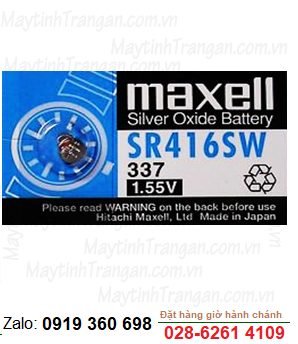 Maxell SR416SW; Pin Maxell SR416SW silver oxide 1.55V chính hãng Maxell Nhật