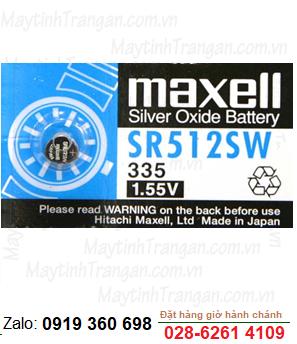 Maxell SR512SW; Pin Maxell SR512SW silver oxide 1.55V chính hãng Maxell Nhật