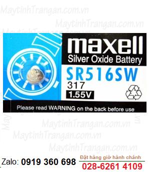 Maxell SR516SW; Pin Maxell SR516SW silver oxide 1.55V chính hãng Maxell Nhật