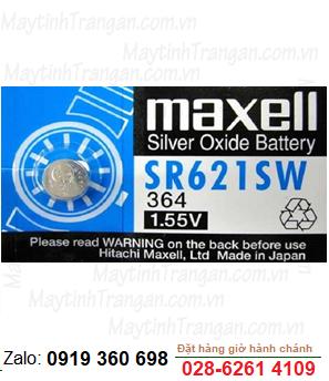 Maxell SR621SW; Pin Maxell SR621SW silver oxide 1.55V chính hãng Maxell Nhật