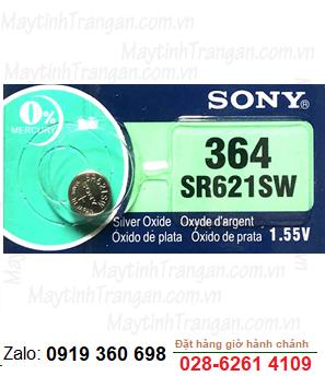 Pin đồng hồ Sony SR621SW-364 silver oxide 1.55V chính hãng Sony Nhật