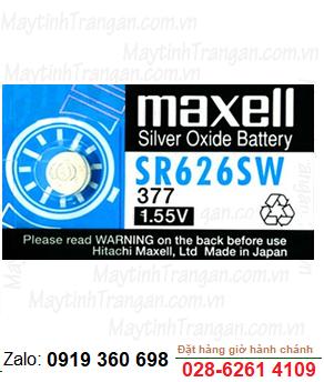 Pin đồng hồ Maxell SR626SW/377 Silver Oxide 1.55v chính hãng Made in Japan