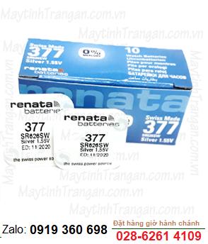 Renata SR626SW-377; Pin đồng hồ 1.55v Silver Oxide Renata SR626SW-377
