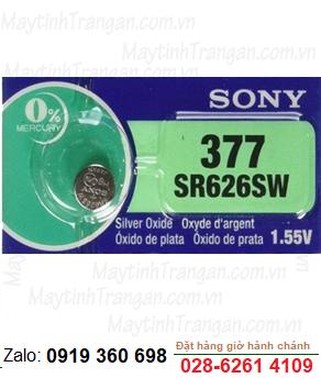 Pin đồng hồ Sony SR626SW-377 silver oxide 1.55V chính hãng Sony Nhật