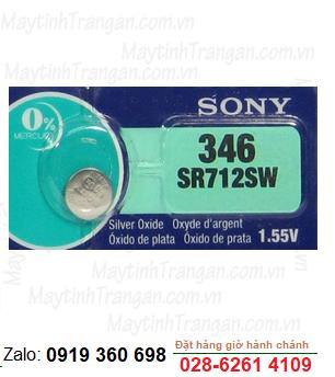 Pin đồng hồ đeo tay 1,55v Silver Oxide Sony SR712SW-346 chính hãng thay pin đồng hồ các hãng