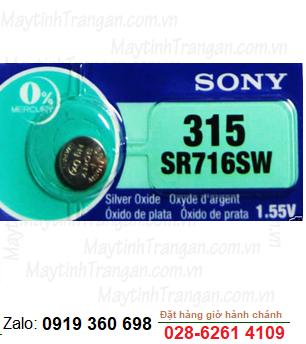 Sony SR716SW - 315; Pin đồng hồ 1.55v Silver Oxide Sony SR716SW - 315 chính hãng _Made in Indonesia