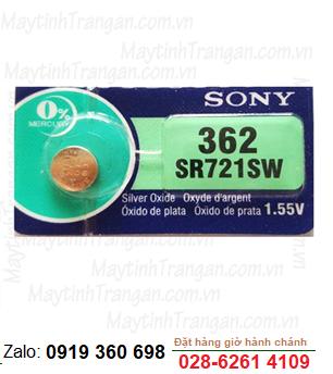 Pin đồng hồ đeo tay Sony SR721SW-362 silver oxide 1.55V chính hãng Sony thay pin đồng hồ các hãng
