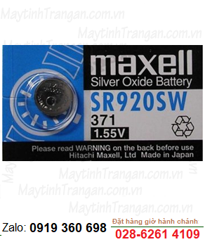 Maxell SR920SW; Pin Maxell SR920SW silver oxide 1.55V chính hãng Maxell Nhật