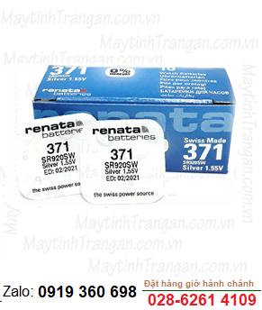 Renata SR920SW-371; Pin đồng hồ 1.55v Silver OXide Renata SR920SW-371