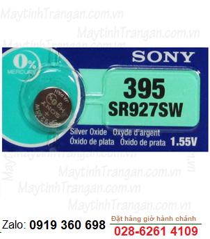 Sony SR927SW-395/399; Pin đồng hồ 1,55v Sony SR927SW-395/399 Silver Oxide chính hãng _Made in Indonesia