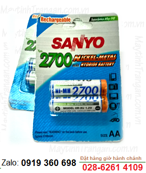 Sanyo HR3U-2BP; Pin sạc AA2700mAh 1.2v Sanyo HR3U-2BP