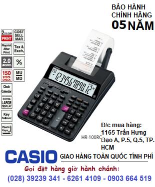 Casio HR-100RC, Máy tính tiền in ra bill giấy Casio HR-100RC chính hãng| CÒN HÀNG (mẫu mới Bào hành 5 NĂM)