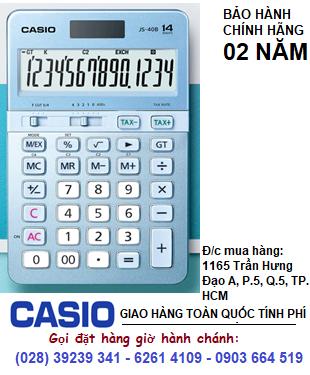 Casio JS-40B-BU; Máy tính tiền Casio JS-40B-BU chính hãng| CÒN HÀNG