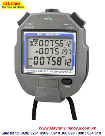 Traceable 1052; Đồng hồ bấm giây Đếm lùi 300 Laps và có chế độ Repeat tự động lặp lại đếm lùi 1052 Traceable® 300 Memory All-Function Stop | Đã được hiệu chuẩn tại Mỹ