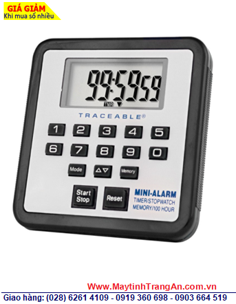 Traceable 5021 _Đồng hồ bấm giây đếm lùi đếm tiến 5021 Traceable®100-Hour Mini-Alarm Timer/Stopwatch _Đã được hiệu chuẩn tại Mỹ