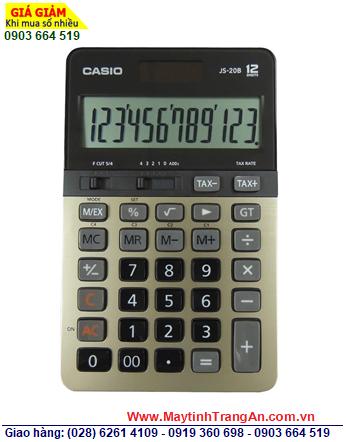 Casio JS-20B-GD, Máy tính tiền Casio JS-20B-GD loại 12 số phím ĐÚC | CÒN HÀNG