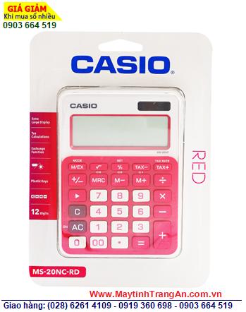 Casio MS-20NC-RD, Máy tính tiền Casio MS-20NC-RD loại 12 số Digits  CÒN HÀNG