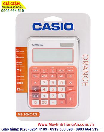Casio MS-20NC-RG, Máy tính tiền Casio MS-20NC-RG loại 12 số Digits   CÒN HÀNG